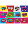 pop art comic speech cartoon bubbles in vector image vector image