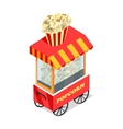 Popcorn Trolley in Isometric Projection vector image vector image