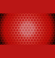 red gradient hexagon abstract background pattern vector image vector image