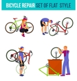 Repair broken bicycle vector image vector image