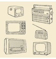 Retro tv and radio set vector | Price: 1 Credit (USD $1)