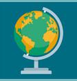 school globus icon flat style vector image