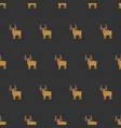 seamless brown moose pattern vector image