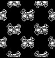seamless pattern with a human skull and vector image vector image