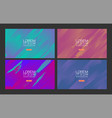 set abstract colorful gradient background vector image