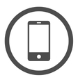 Smartphone flat gray color rounded icon vector image vector image
