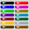 Speaker volume Sound icon sign Set from fourteen vector image vector image