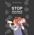 stop violence against women vector image