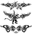 tattoos dragons vector image