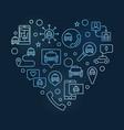 taxi heart concept linear blue modern vector image vector image
