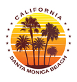 Travel Background for Santa Monica California vector image vector image