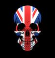 united kingdom flag skull vector image