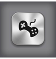 Video game icon - metal app button vector image vector image