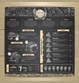 vintage chalk drawing bakery menu design vector image vector image