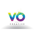 vo v o colorful letter origami triangles design vector image vector image