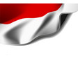 waving flag indonesia vector image vector image