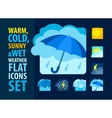Weather icons set flat vector image vector image
