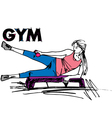 woman on GYM vector image vector image