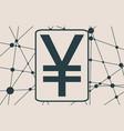 yen money symbol vector image vector image