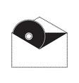 cd in envelope icon vector image