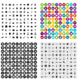 100 donation icons set variant vector image vector image