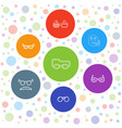 7 glasses icons vector image vector image
