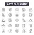 advocacy line icons signs set outline vector image vector image