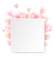 balloons and white banner isolated white vector image vector image