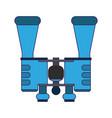 binoculars spy device symbol blue lines vector image vector image