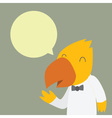 Bird Staff vector image