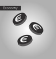 black and white style icon euro cents vector image
