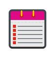 calendar list icon flat style vector image