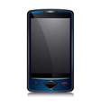 Cell smart phone blue vector | Price: 1 Credit (USD $1)