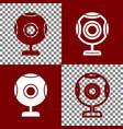 chat web camera sign bordo and white vector image vector image