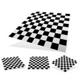 checkered planes with shadows and shading vector image