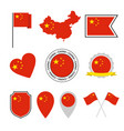 china flag icons set national symbol the vector image vector image
