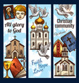 christian community religious banners vector image vector image