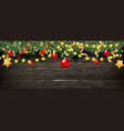 christmas fir tree with decoration vector image