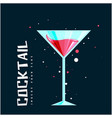 cocktail glass of cocktail background image vector image