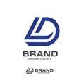 creative letter dl logo design template vector image vector image