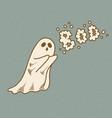 cute cartoon ghost says boo vector image