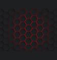 dark gray and red hexagons modern geometrical vector image