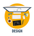 design flat icon design freelance vector image