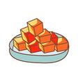 Diced Radish Kimchi vector image vector image