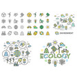 digital yellow green ecology vector image