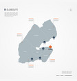 djibouti infographic map vector image vector image