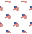 flag of the united states icon in cartoon style vector image