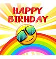 Happy birthday template vector image vector image