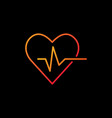 heartbeat colored icon - heart rate outline vector image vector image