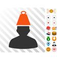 heavy person stress icon with bonus vector image vector image